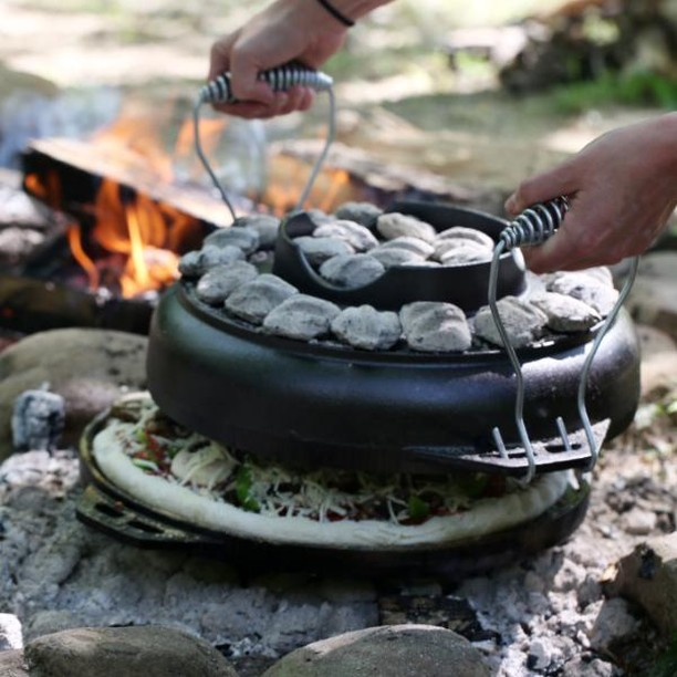 We're going to #savortheoutdoors today with a giveaway! 🔥Simply follow the steps below to enter to win a NEW Cook-It-All!  1. Like this photo.  2. Follow @lodgecastiron.  3. Tag a friend in the comments!  This giveaway ends Monday, 9/10, at 8:00 AM CST. Winner will be chosen at random. Terms and conditions apply. See here: on.fb.me/1M1vRGN #giveaway #lodgecastiron #castiron